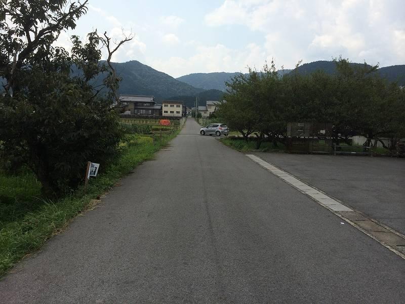 西側の前道を北から南に向かって撮影