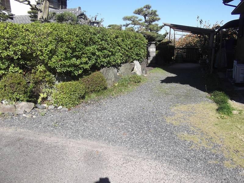古家前 通路周辺を撮影 西側から