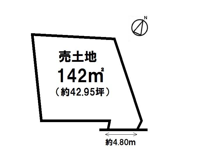 【区画図】 北屋敷 売土地