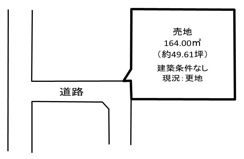 【区画図】 久喜市本町3丁目 売り土地です。建築条件はありません。