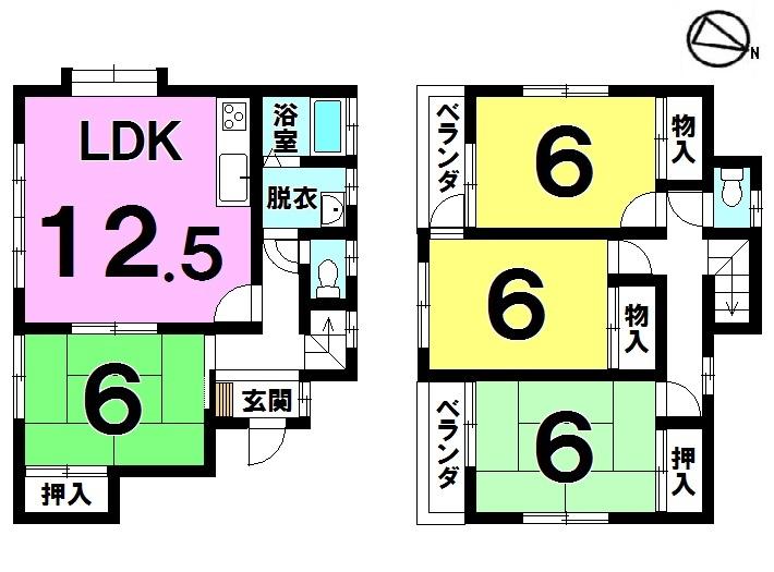 【間取り】 現在空室のため、即入居可能です!