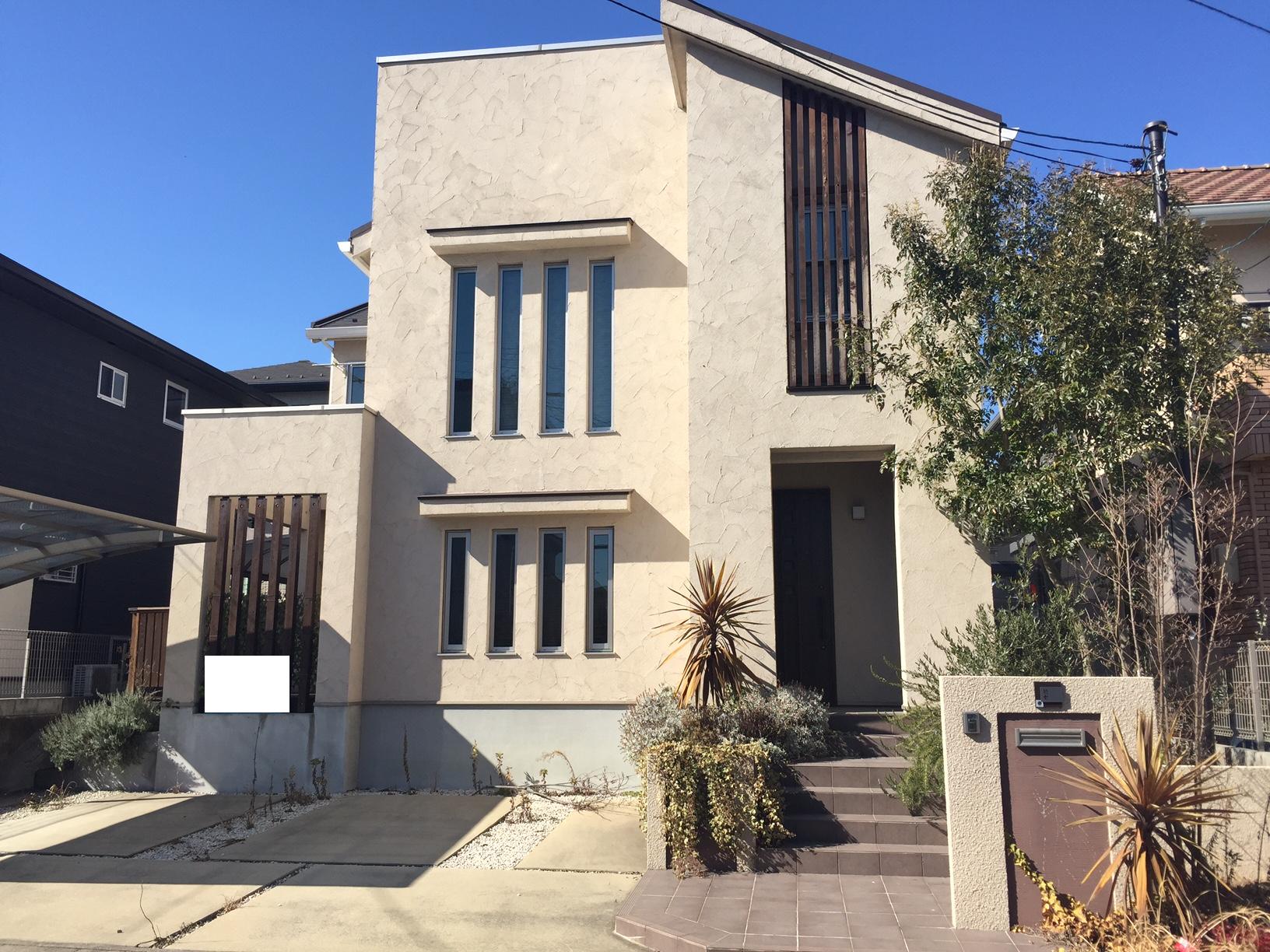 【外観写真】 三井ホームの家♪4SLDK♪南東側、駐車3台可能♪オール電化♪ウッドデッキ付き♪