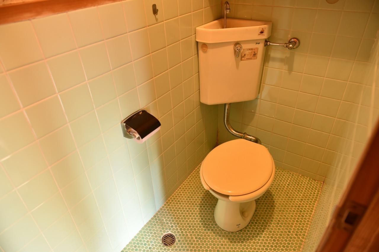 玄関入ってすぐのところにトイレがあります♪