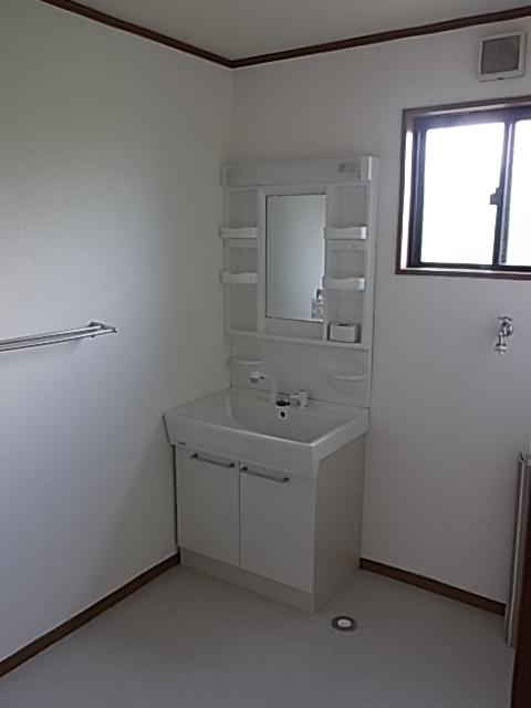 洗面台も新品です♪
