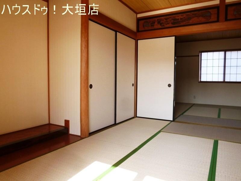 和室は2間続きで16帖の広さ。