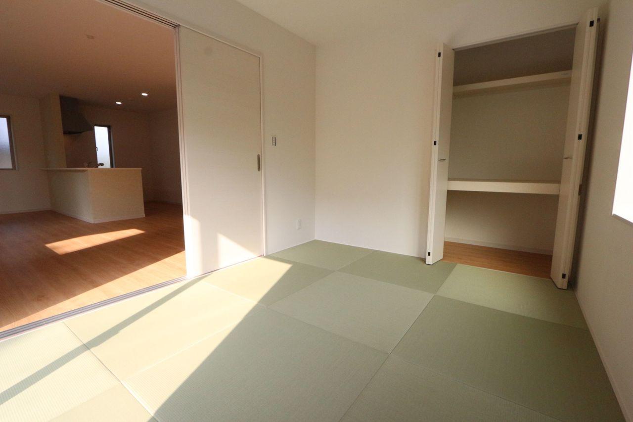 和室には琉球畳を採用し おしゃれな雰囲気になりました。