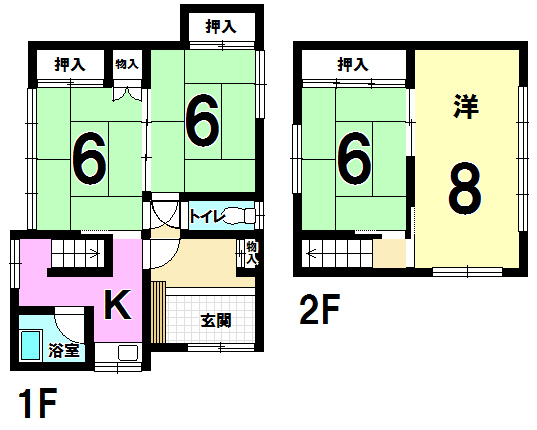 【間取り】 小倉南区湯川新町中古一戸建て4K♪西鉄バス蜷田若園三丁目まで停歩約8分。当店はリフォームも承ります!
