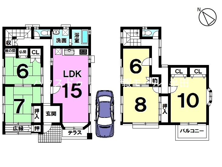 【間取り】 間取り:4LDK+S 土地面積:43.39坪 建物面積:41.39坪