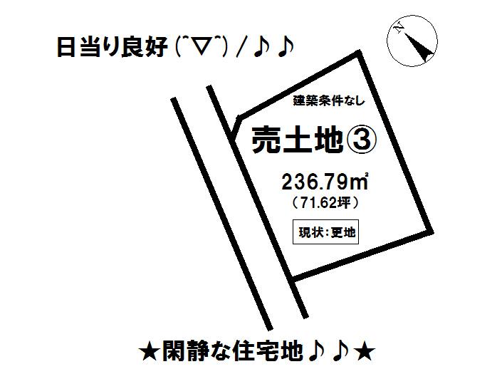 【区画図】 富士宮市大岩の売土地物件です。