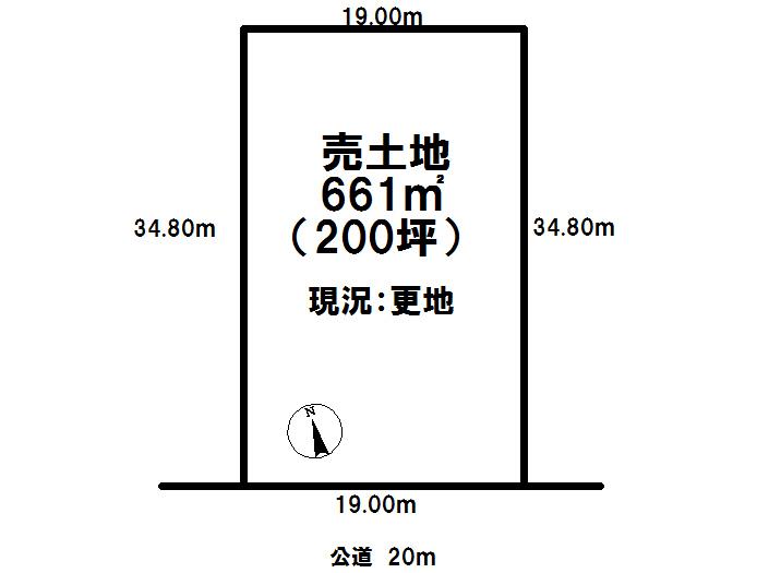 【区画図】 恵庭市和光町の土地です。