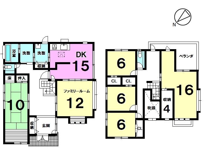 【間取り】 二世帯住宅可能な敷地98坪以上