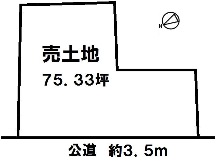 【区画図】 土地面積 75.33坪