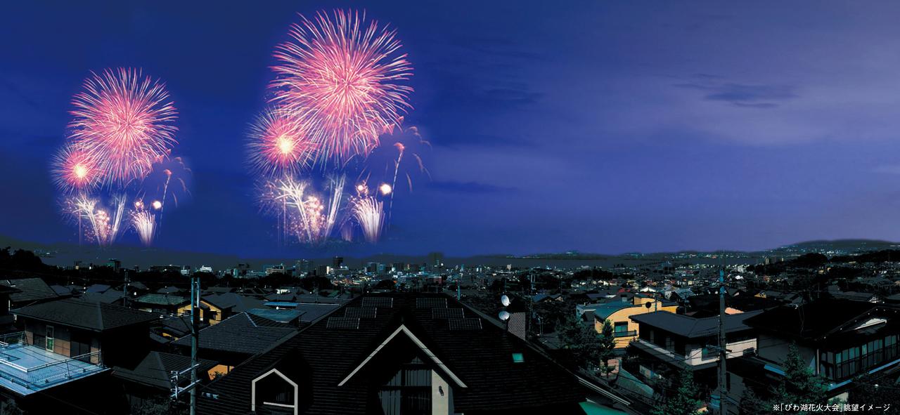 琵琶湖の花火大会はご自宅から鑑賞