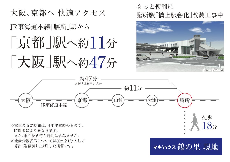 最寄駅「膳所駅」はJRと京阪の2WAYアクセス