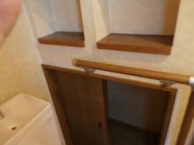 1Fトイレ収納スペースが あり大変便利です