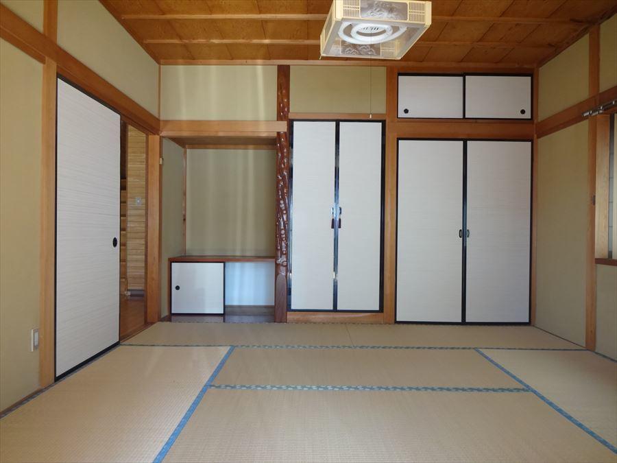 8帖の和室はお節句の飾りをおいてお祝いしたり、客間としても活用できますね。