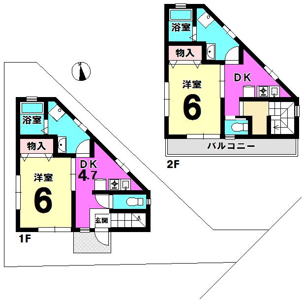 【間取り】 江戸川区西小岩1丁目の事業用一括物件です。