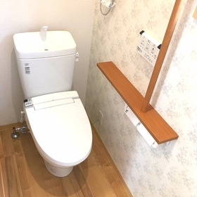 トイレは1階、2階の2か所です。