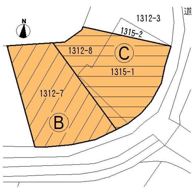【区画図】 ◆売土地 約93.21坪◆北九州市小倉南区上貫3丁目※建築条