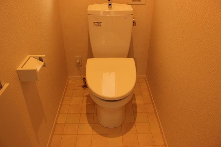 掃除のしやすそうなすっきりとしたトイレです