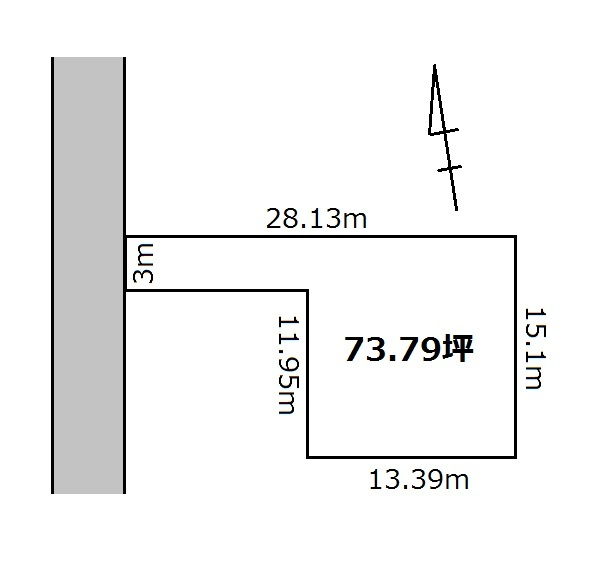 【区画図】 さいたま市見沼区堀崎町 売り土地です。建築条件はありません。