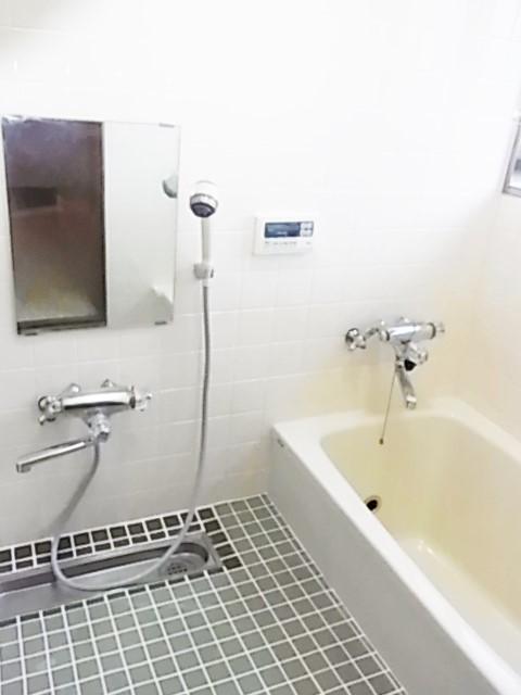 モノトーンがシックな浴室