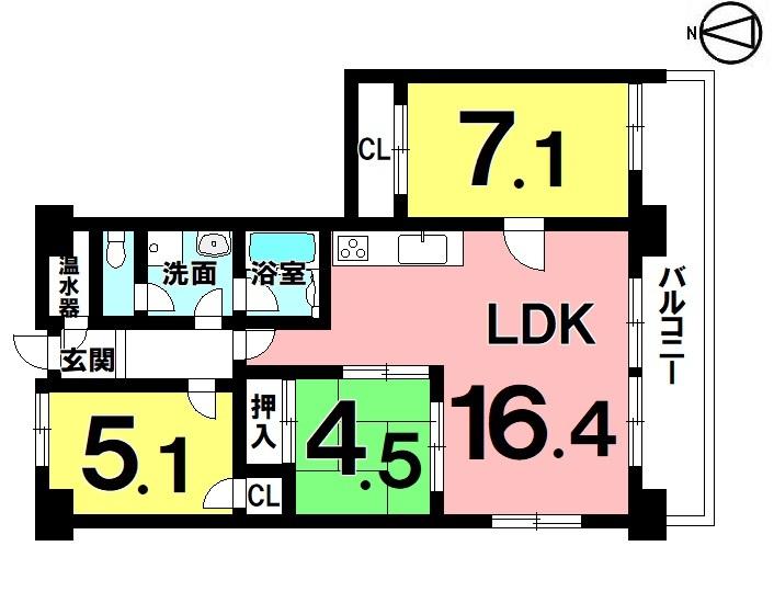 【間取り】 4LDK オール電化 H28年12月リフォーム済 駐車場敷地内1台無料