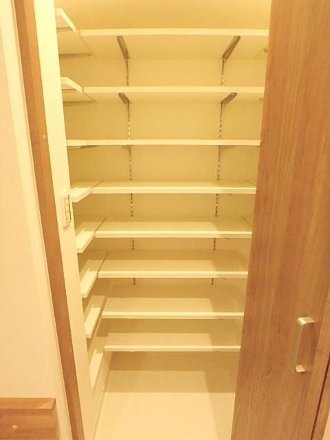 シューズインクローゼット たっぷりの収納スペースが確保されています。
