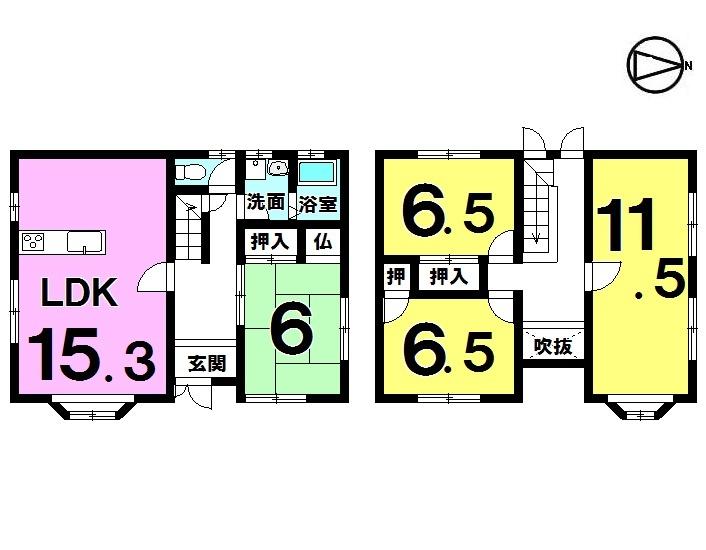 【間取り】 4LDK 駐車2台
