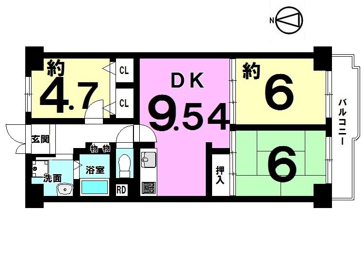 【間取り】 平成29年3月全面改装済! 全室照明器具付きで即入居可能です。 お気軽にお問合せ下さい。