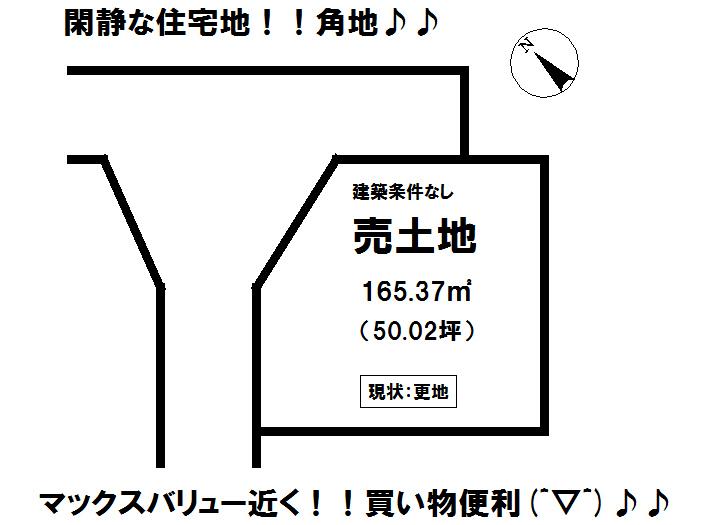 【区画図】 富士宮市万野原新田の売土地物件です。