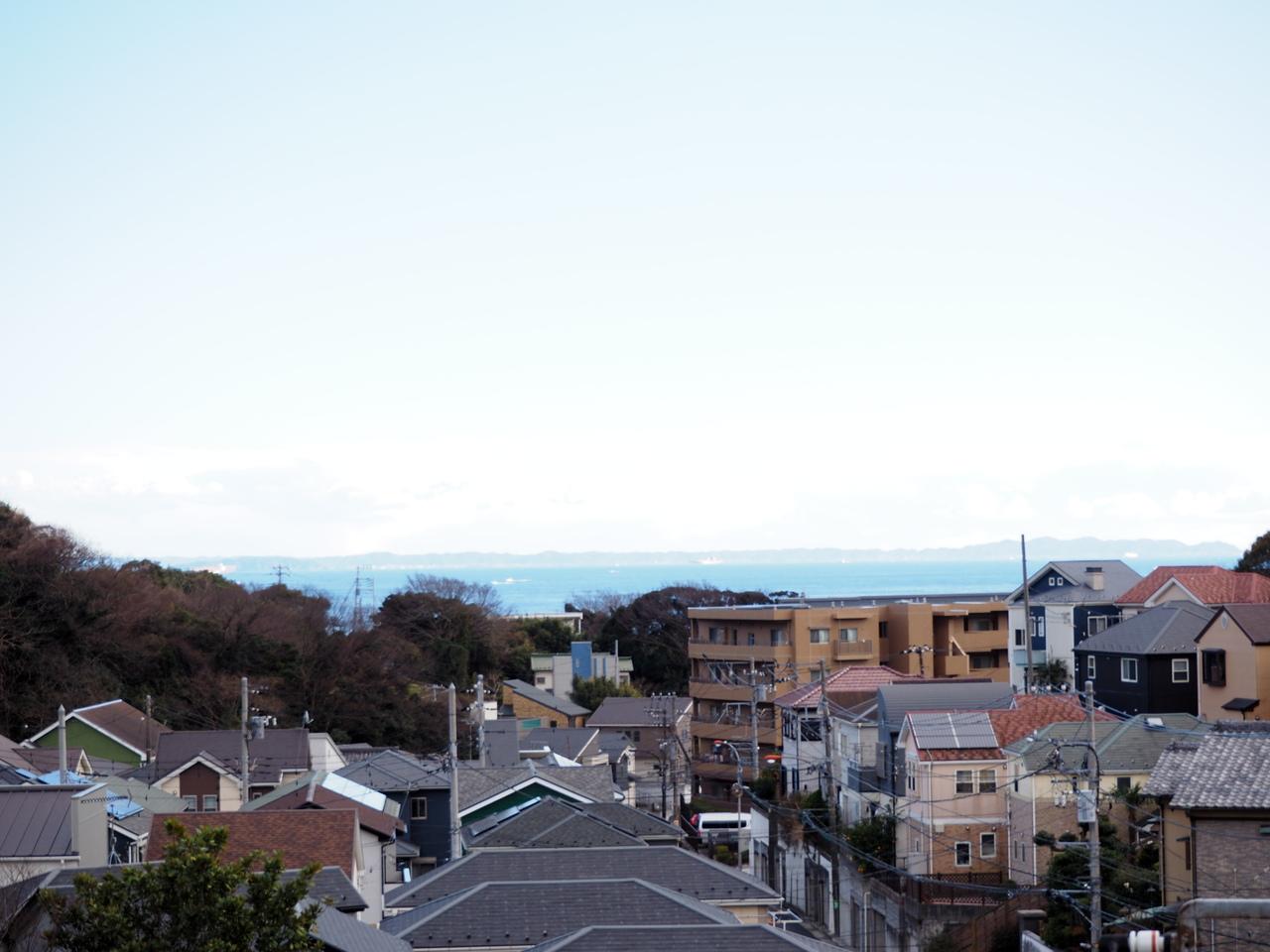 高台に立地のため、眺望良好です。
