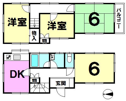 【間取り】 各角部屋は3面採光になっており、陽当り・風通し良好です!