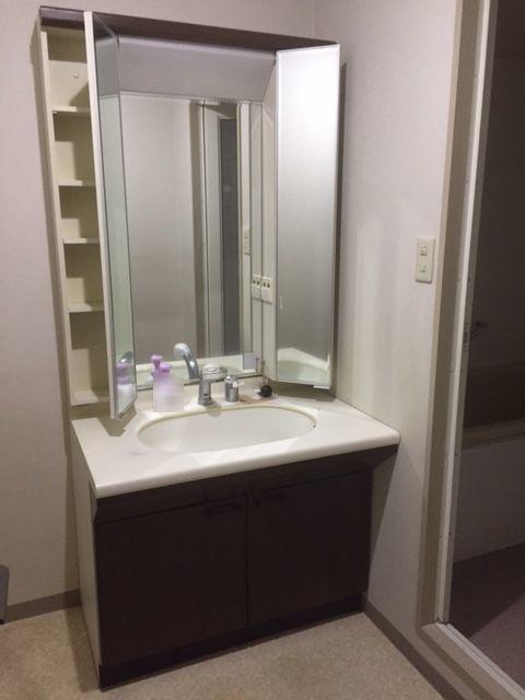 忙しい朝に嬉しいシャワー付洗面台を採用。