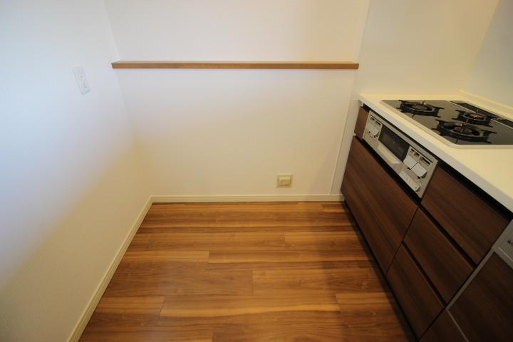 ゆとりのある調理スペース