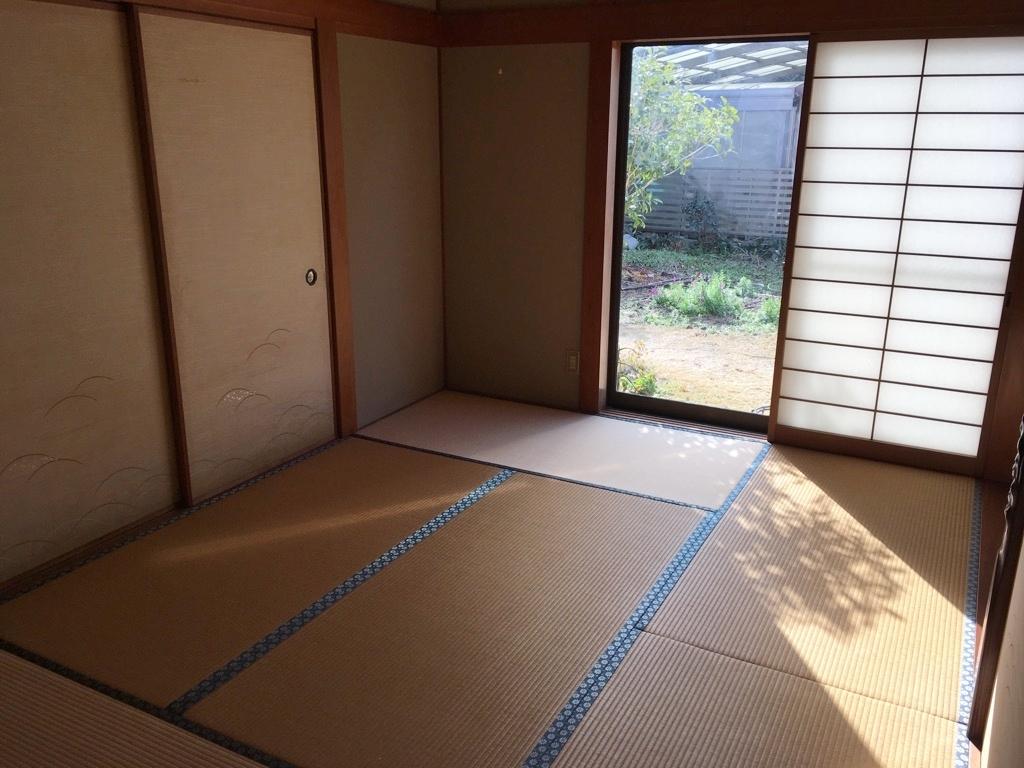 1階の和室です。 和室からもお庭が望めます。