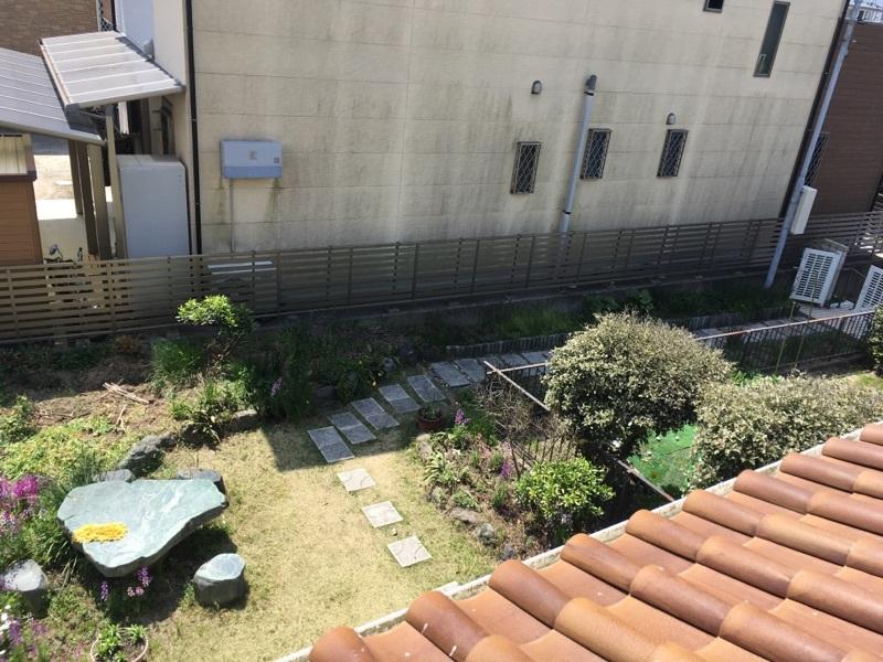 2階から見た南面のお庭です。