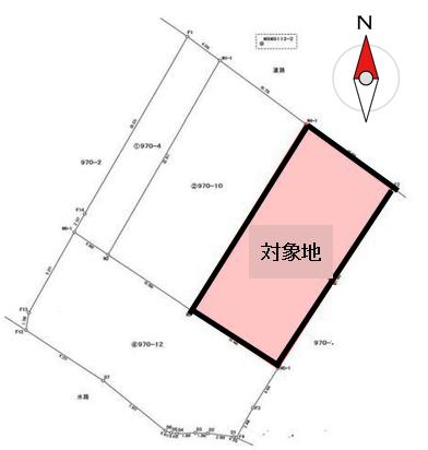 【区画図】 上貫売土地♪平坦地・更地■前面道路約8m ■土地70坪以上 ※建築条件なし