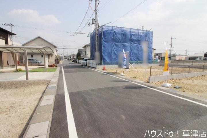 JR草津駅まで徒歩23分・土地約42坪・現況更地・治田小学校まで徒歩7分(約530m)