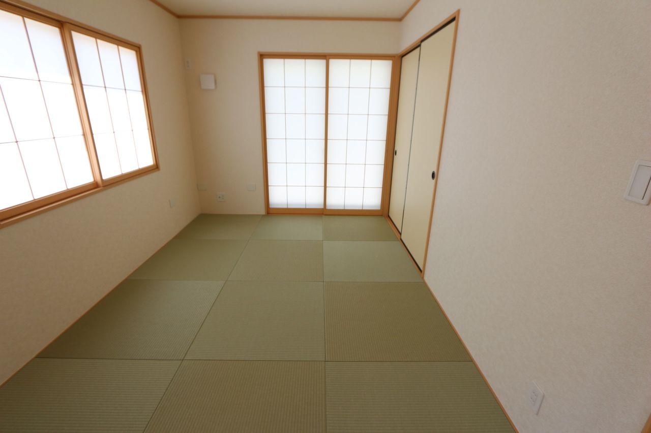 琉球畳を採用し、お洒落な雰囲気に なりました。