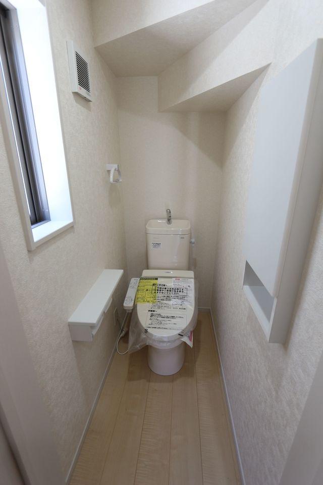 1・2階共に温水洗浄便座を 設置しました。