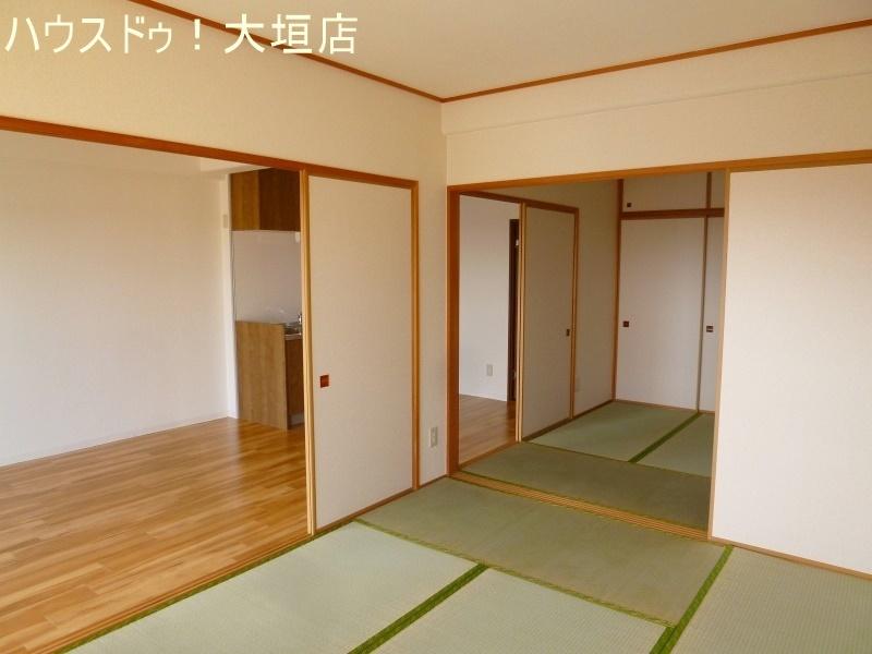 二間続きの和室はリビングと併せて広くご活用いただけます。