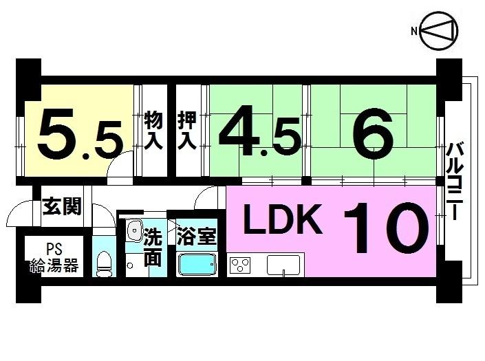 【間取り】 ・3LDK ・オール電化 ・平成29年2月リフォーム済