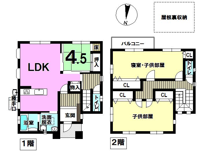 【間取り】 2階の部屋割りはフレキシブルになっており、将来4部屋に変更も可能です♪