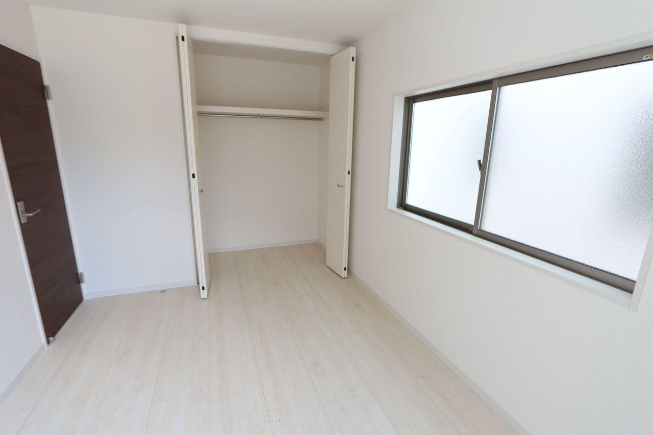 全居室の収納スペースを確保。