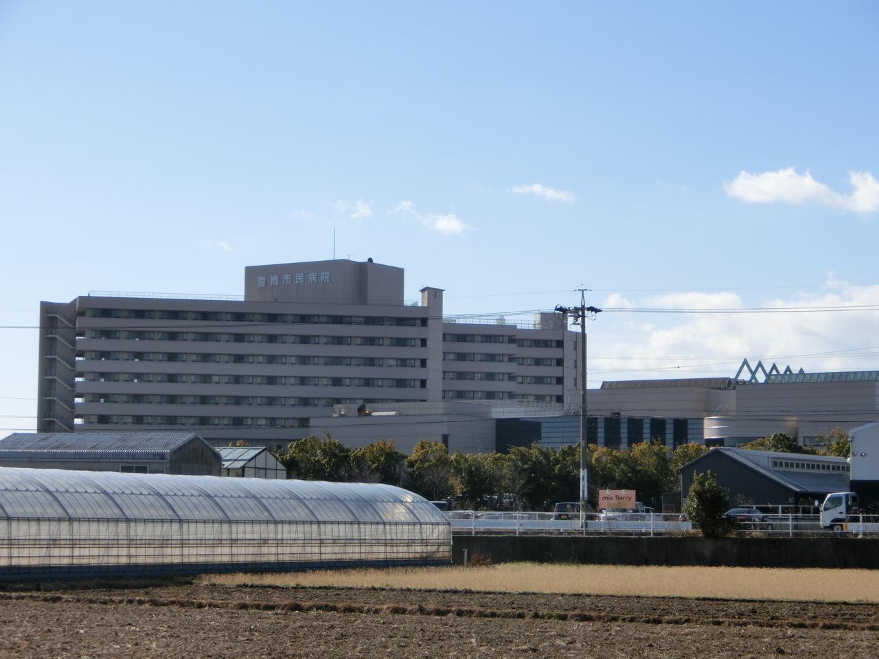 【病院】豊橋市民病院まで徒歩23分(1809m)