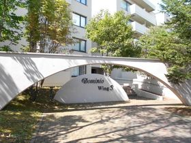 【外観写真】 千歳市文京の分譲マンション「サーム千歳Wing5」です。オール電化・オートロック・エレベーターありの鉄筋コンクリート造マンションです。