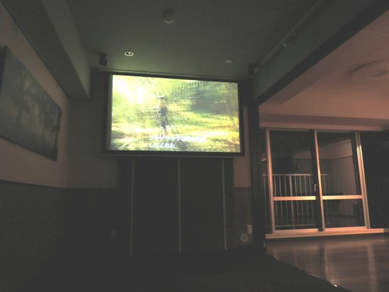 ◎寝室(2014年1月リノベーション後撮影) 寝室にはビデオシアターも完備!自宅でゆっくり映画鑑賞も楽しめます。