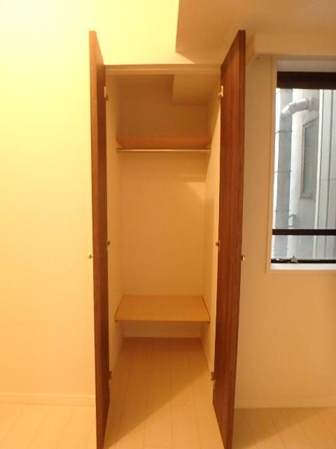 洋室5.3帖の収納 奥行きがあり整理整頓できます。