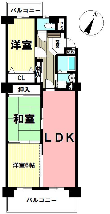 【間取り】 居住人数や暮らし方によって、2LDKにも3LDKにもなります。